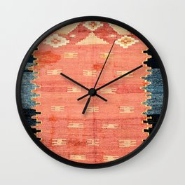South West Anatolia  Antique Turkish Niche Kilim Print Wall Clock