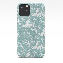 Traditional Hand Drawn Japanese Wave Ink iPhone Case