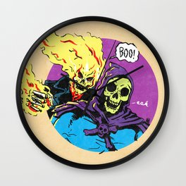 Ghost Rider and Skeletor Wall Clock