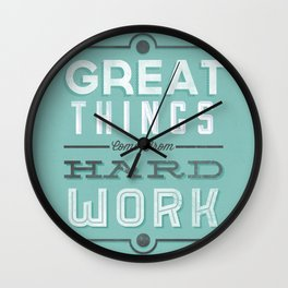 Great Things... Wall Clock