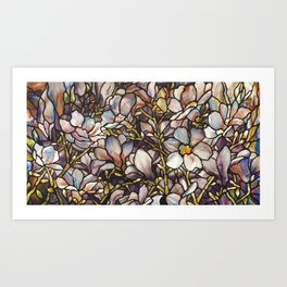 Louis Comfort Tiffany - Decorative stained glass 10. Art Print