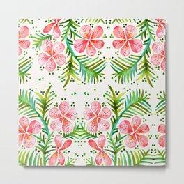 Orchid Bunch – Peach Palette Metal Print