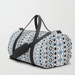 Aztec Essence Pattern II Light Blue Black White Duffle Bag