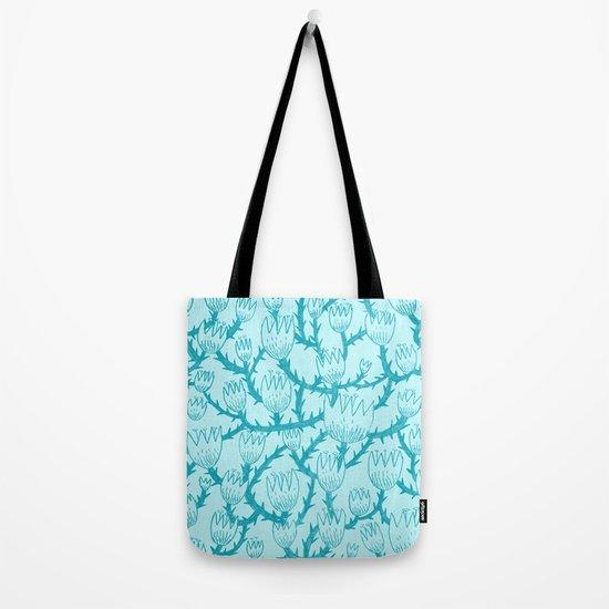 Mint Thorn Tote Bag