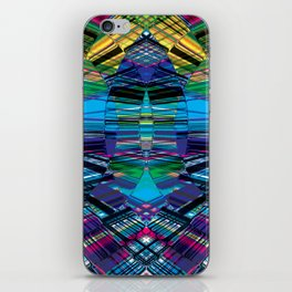 Cyber dimension iPhone Skin