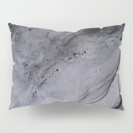 Smoke Diptych I : Alcohol Ink Painting Pillow Sham