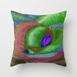 NERPLE Wild Rose (Rainbow Rose) Throw Pillow