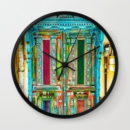 Beautiful Multi-Colored Doorway Photograph Wall Clock