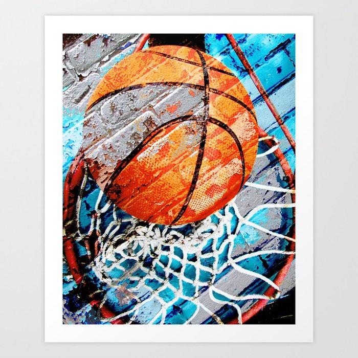 Modern basketball art 3 Art Print by takumipark | Society6