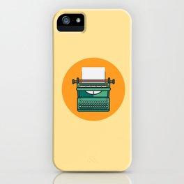 Typewriter Icon iPhone Case