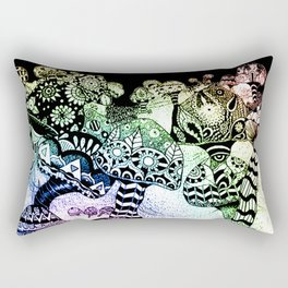 Mushroom Field Rectangular Pillow