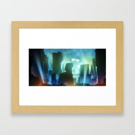 Robot Invasion Framed Art Print