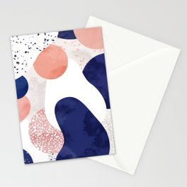 Terrazzo galaxy pink blue white Stationery Cards