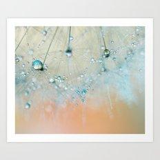 dandelion blue III Art Print