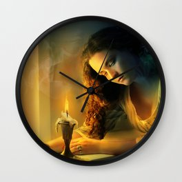 Ghost love story | Cadence of her last breath Wall Clock