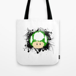 Abstract Paint Splatter 1up Mushroom Tote Bag