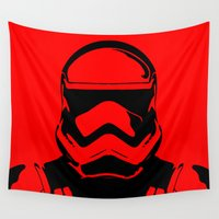 trooper Wall Tapestries featuring Trooper  by Rabassa