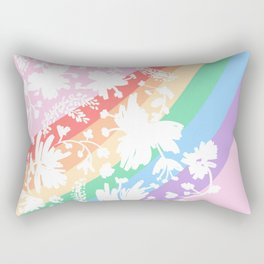 Rainbow Stripes 11 Rectangular Pillow