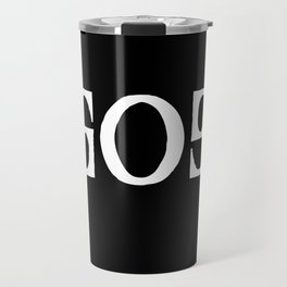 GOD - Ambigram series (Black) Travel Mug