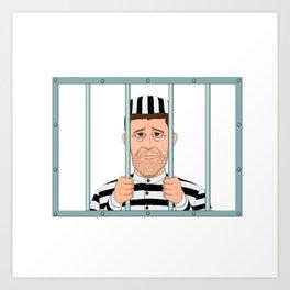 Prison Convict Captive Art Print