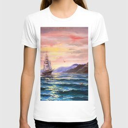 Morning in the sea T-shirt