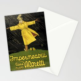 impermeabili moretti. 1921  oude poster Stationery Cards