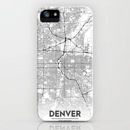 Minimal City Maps - Map Of Denver, Colorado, United States iPhone Case