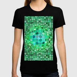 Optical Illusion Sphere - Green T-shirt