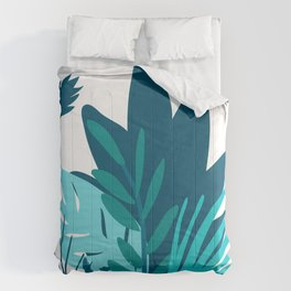 Modern Chic Graphic Design Leaves Art Comforters