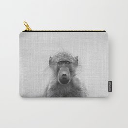 Baboon - Black & White Carry-All Pouch