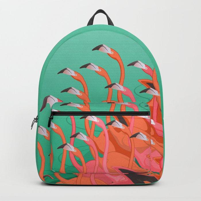 Fresco of the flamingoes. Backpack