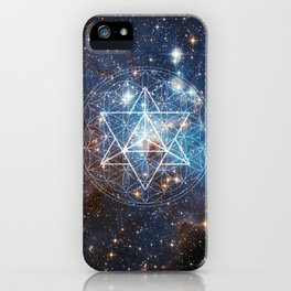 Merkaba in Flower of Life iPhone Case