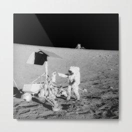 298. Astronauts Pay a Visit to Surveyor 3 Metal Print