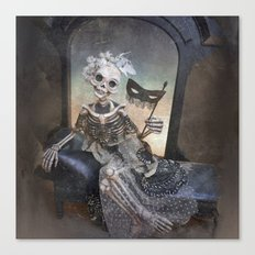Catrina in Waiting Skeleton Large Format Canvas Print