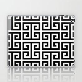 Large Black and White Greek Key Pattern Laptop & iPad Skin