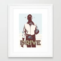 drive Framed Art Prints featuring Drive by Duke Dastardly