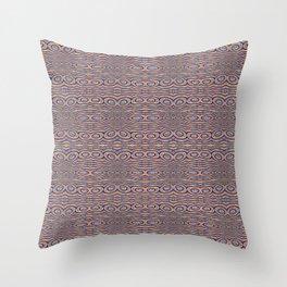 Aboriginal Pulse Pattern Neutral Warm Throw Pillow