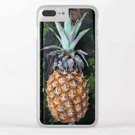 Weathered Pineapple Clear iPhone Case