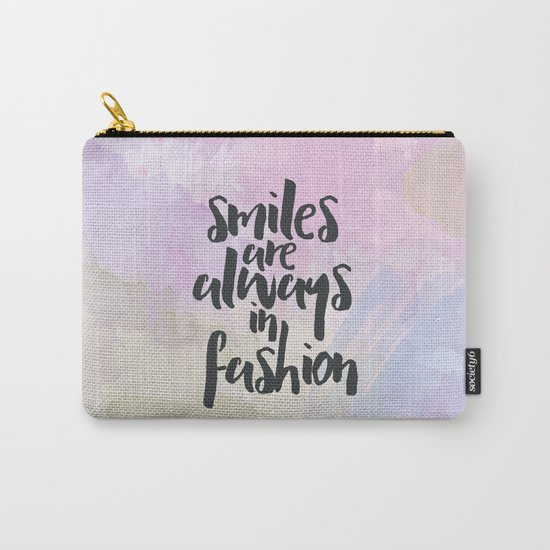 Smiles In Fashion Quote Carry-All Pouch