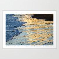 Golden Morning Reflection Art Print