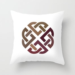 St. Patrick's Day Celtic Red Knot #2 Throw Pillow
