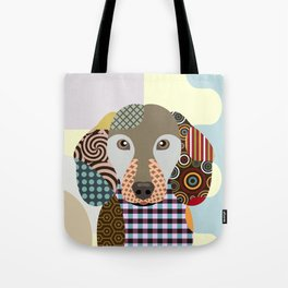 Dachshund Dog Pop Art Cubism Tote Bag