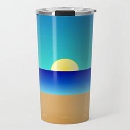 Beach Sun Minimal Travel Mug