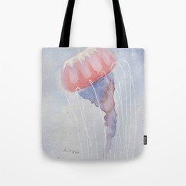 Pink & Blue Jellyfish Tote Bag