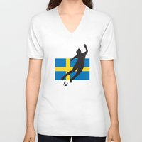 sweden V-neck T-shirts featuring Sweden - WWC by Alrkeaton