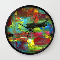 blur Wall Clocks featuring Blur by Ink and Paint Studio