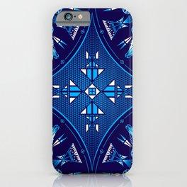 buffalo Gathering blue iPhone Case