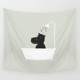 The Happy Shower Wall Tapestry
