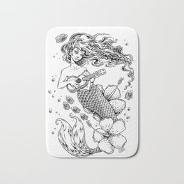 Ukulele Mermaid Bath Mat