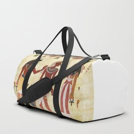 egyptian design man woman priest Duffle Bag